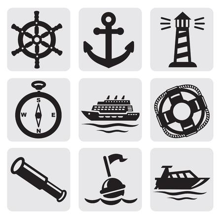 nautical compass: nautical set