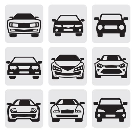 car symbols set Stock Vector - 14697477