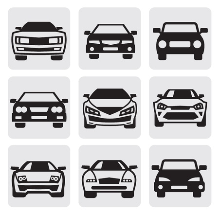 symboles de réglages de la voiture Vecteurs