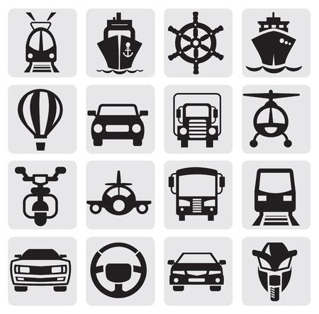 industrial ship: transport icons set Illustration