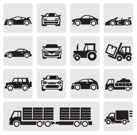industrial vehicle: transport icons set Illustration
