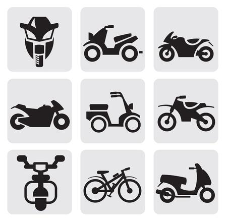 motocyclettes et des bicyclettes fixées
