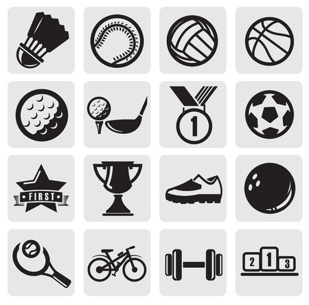 a collection of awards icon: sports set