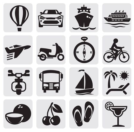 travel set Stock Vector - 14787635
