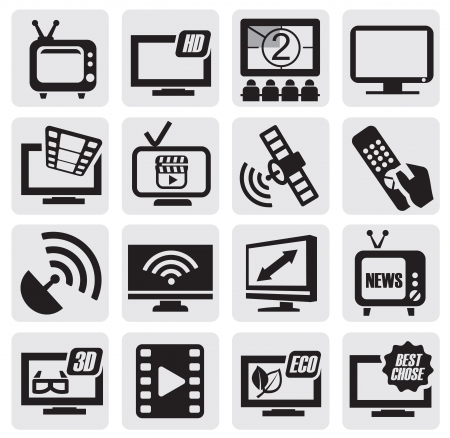 tv icon: TV technology set