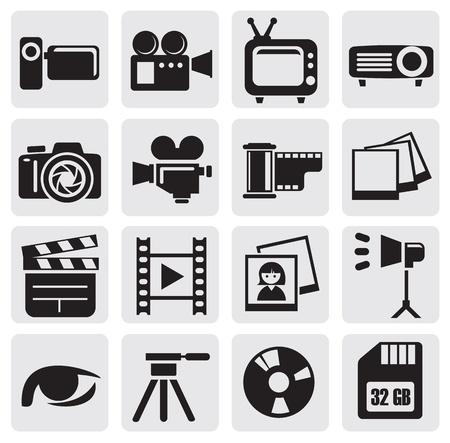 tv camera: movie set Illustration