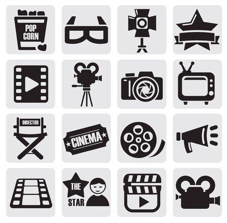 movie ticket: movie set Illustration