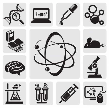 atoms: Science set Illustration