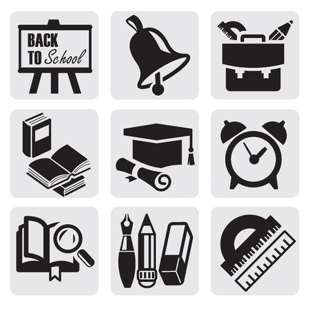 despertador: Iconos de la escuela