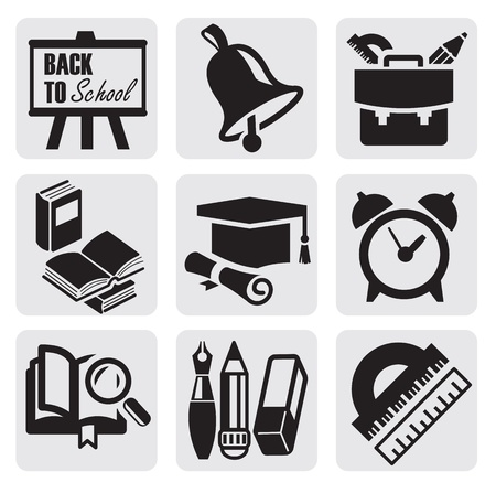 alarms: school icons