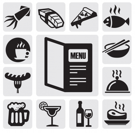 restore: restaurant icons Illustration