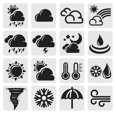 weather symbols: weather set
