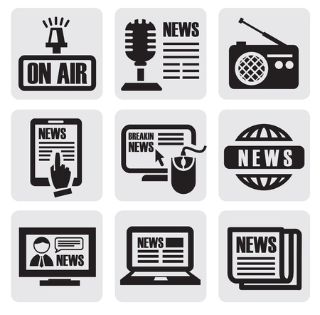 press news: newspaper media icons