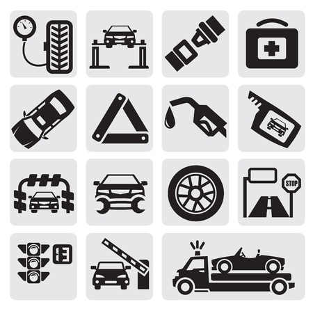Car service set Stock Vector - 14855802