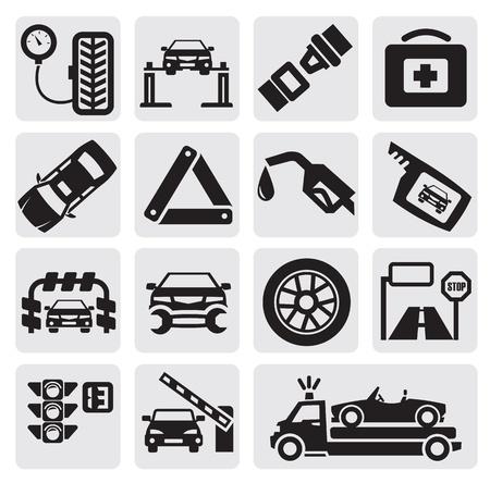 repair road: Car service set