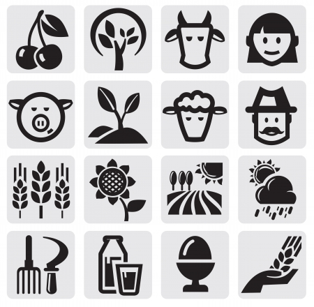 Farm set Stock Vector - 14855810