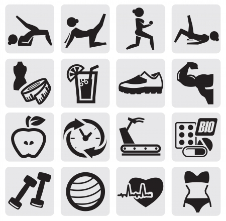activity icon: fitness and sport set