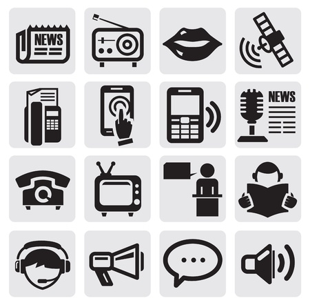 iconos de medios sociales Ilustración de vector