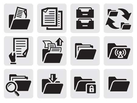 organizing: folder icons set Illustration