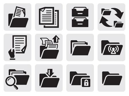 folder: iconos de las carpetas establecer Vectores
