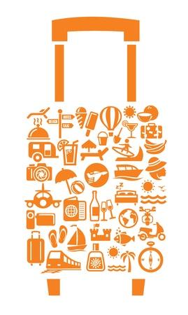 business travel: Travel  icon set Illustration