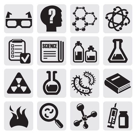 laboratory glass: science icon set