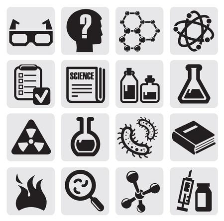 probeta: Science Icon Set Vectores