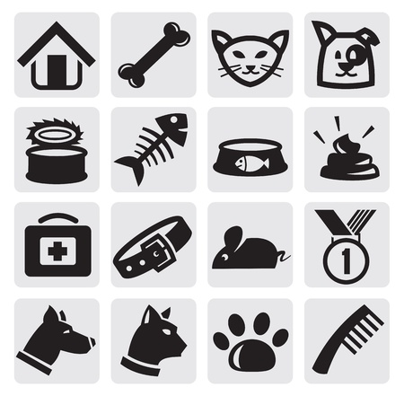 veterinary sign: dogs and cats set