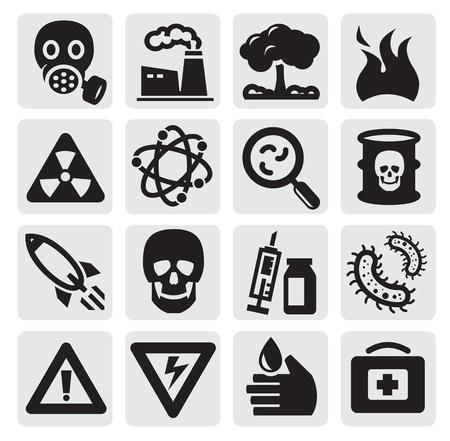 mascara gas: Contaminación del conjunto