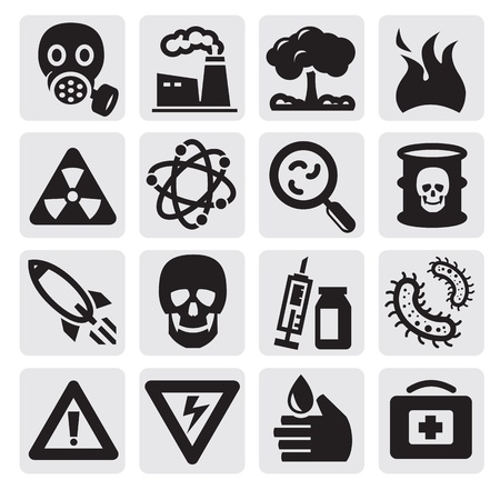 Pollution set Vector