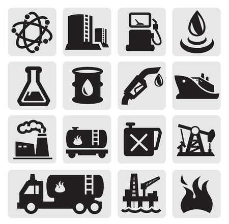 Oil and petrol icons
