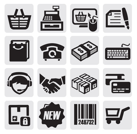 e shop: shopping icons
