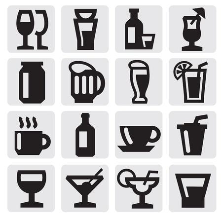 beverage icons Vector