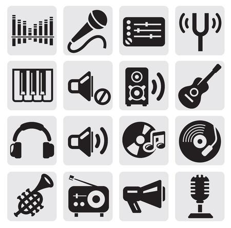 and sound: iconos de la m�sica Vectores