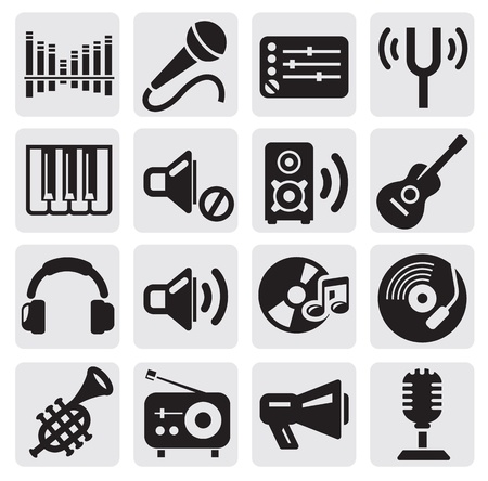 loudspeaker: music icons Illustration