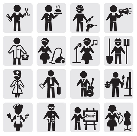 occupations and professions set Stock Vector - 14937264