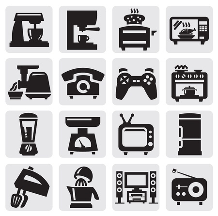 home appliance set Vector