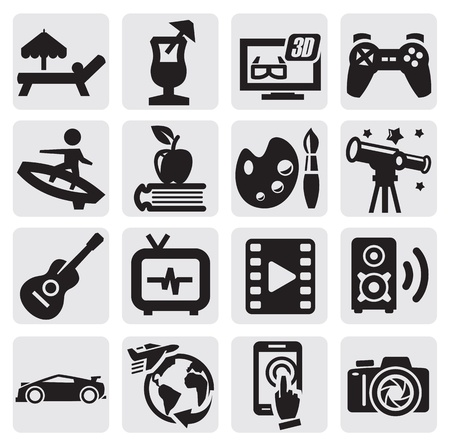 audio book: entertainment icons