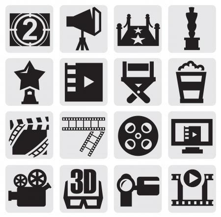 кинематография: векторных иконок фильм