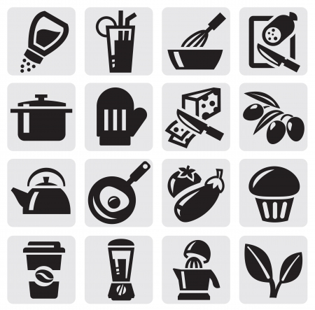 cuchillo de cocina: Cocina set Vectores