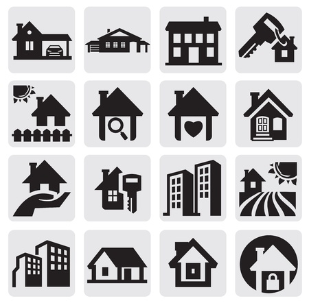 home icon: homes set Illustration