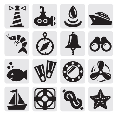 shrimp boat: nautical icons