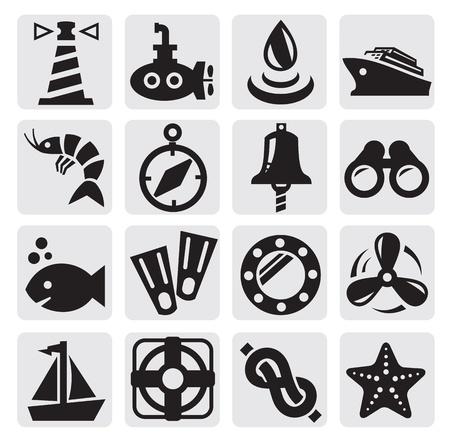 prawns: nautical icons