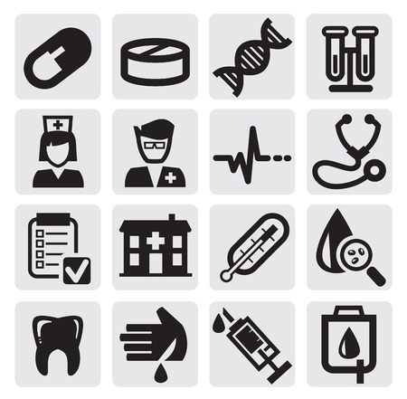 dottore stetoscopio: insieme medico Vettoriali