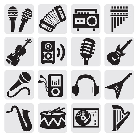 microphone: musical instruments Illustration