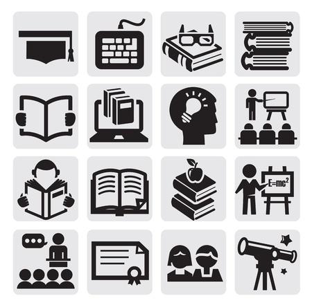 onderwijs: het hoger onderwijs Stock Illustratie