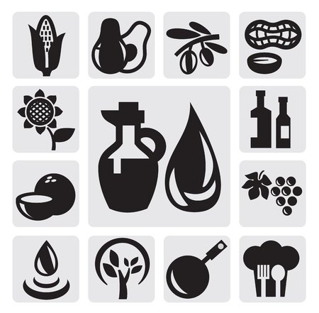 kind of oils Vector
