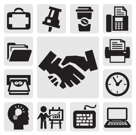 phone time: office and business icons