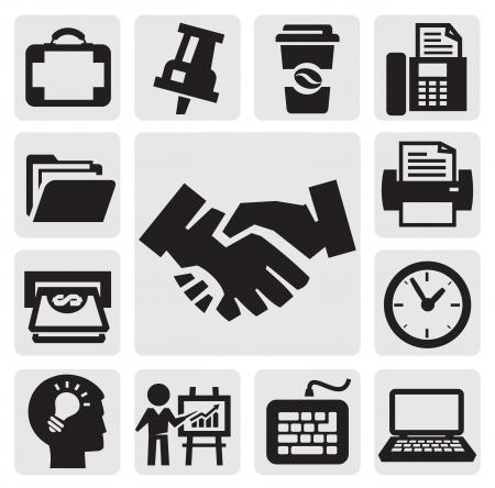 phone money: oficinas y negocios iconos