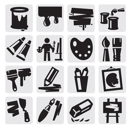 art icons set Stock Vector - 15130872